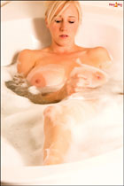 Hot Groovacious K enjoys the bath PinupFiles.com