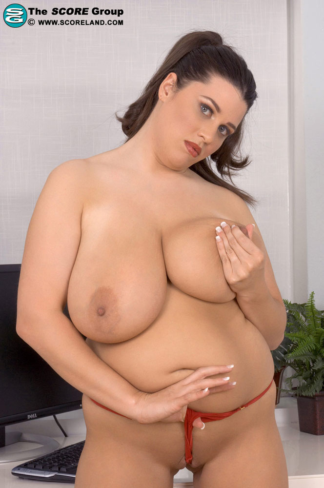 Sexy secretary big tits alone!