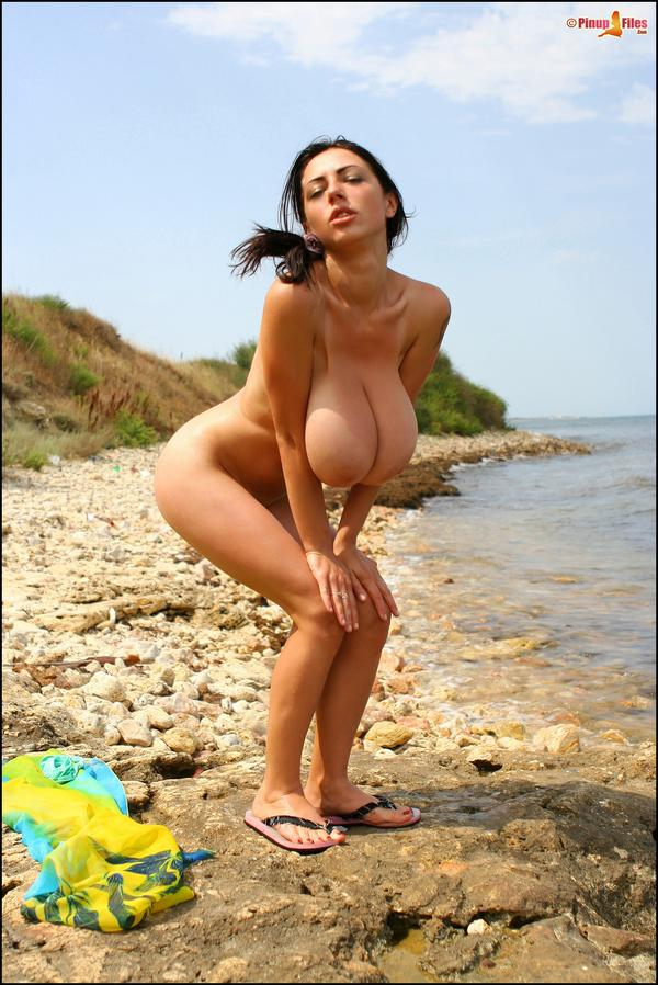Anya Zenkova hot and horny on the beach