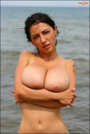 Anya Zenkova hot and horny on the beach