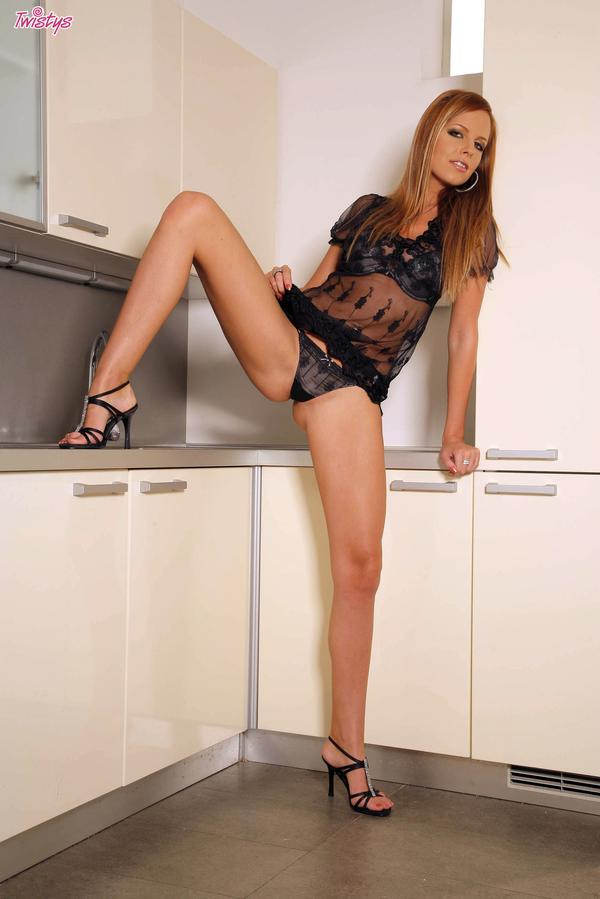 Carmen Gemini hot in the kitchen