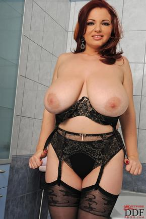 Joanna Bliss big boobs in the bathroom